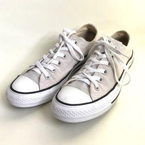 Classic Beige Low Top Converse Sneakers